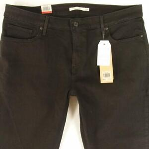 NEW Womens Levi's 311 SHAPING SKINNY Stretch Black Jeans W40 L32 Size 20 BNWT