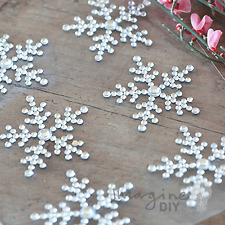 Elsa Crystal Snowflake Self Adhesive Stickers - Flat-back, Crystal ,6 Gems