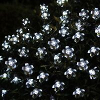 50-100 Solar LED Cherry Blossom Flower Outdoor Garden Lights Xmas Wedding Party