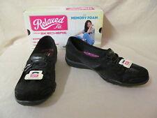 Skechers 6.5M Breathe Easy Spectacular Black SlipOn Relaxed Fit Shoes 22531/BLK