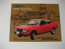 1973 Fiat 128 SL Sport Coupe Car Sales Brochure