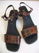 Betty Barclay Sandalen Sandaletten Gr. 39,5 Gr. 6, 5 Leder braun neuwertig