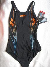 """Schwimmer-Badeanzug """"Arena"""" schwarz/blau/orange, Gr. 36 A/B-Cup, NEU"""