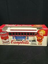 New Campbell's Soup Trolley Car Bank  Collector Series 1994 ERTL