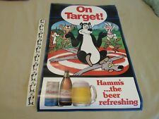 HAMM'S THE BEER REFRESHING BEAR POSTER NEW OLD STOCK, & 10 HAMM'S BEAR STICKERS