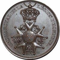 O972 Rare Médaille Ordre royal Légion d'honneur Henri IV De Puymaurin SUP