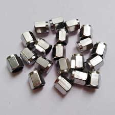 20 Pcs - Brass Metal Chrome Valve Caps Tire Valve Stem Caps Us Stock A393