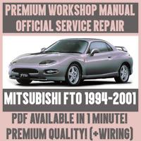 WORKSHOP MANUAL SERVICE & REPAIR GUIDE for MITSUBISHI FTO 1994-2001