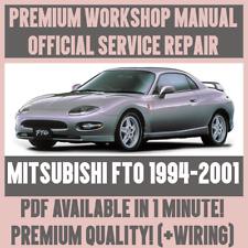 *WORKSHOP MANUAL SERVICE & REPAIR GUIDE for MITSUBISHI FTO 1994-2001