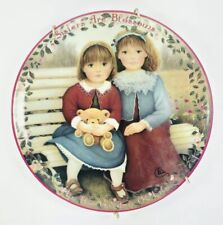 """Bradford """"Sisters Are Blossoms"""" Kindred Moments Plate 1995 Plate No. 846M"""