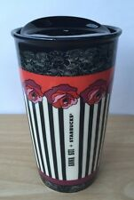 "2015 STARBUCKS ""ANNA SUI"" ROSE STRIPE DOUBLE WALL CERAMIC MUG WITH GIFT BOX"