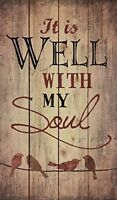 It is Well with My Soul Birds Silhouette Rustic 24 x 14 Wood Pallet Design Wall
