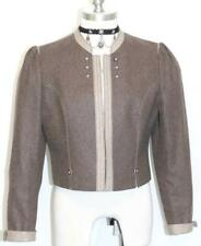 BROWN WOOL German Short Bolero Suit JACKET Blazer 44 S