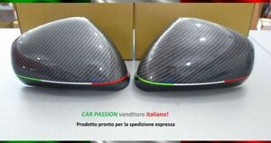 Pair Caps Mirror Alfa Romeo Giulietta Mito 159 Carbon Look Italy Sport