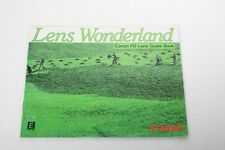 Canon Lens Wonderland Fd Lens Guide Book 1982 Manual+English+Original+W 0W