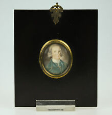 ANTIQUE 18thC PORTRAIT MINIATURE PAINTING - ALEXANDER HUME-CAMPBELL