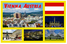 VIENNA, AUSTRIA SIGHTS - SOUVENIR NOVELTY FRIDGE MAGNET - GIFTS / SIGHTS / NEW