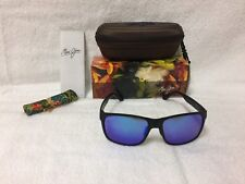NEW Maui Jim Red Sands Polarized Sunglasses Matte Black / Blue Hawaii B432-2M