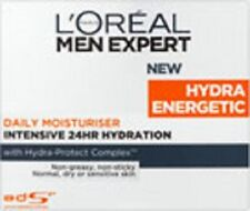 2 x L'OREAL MEN EXPERT HYDRA ENERGETIC DAILY MOISTURISER 50ml NEW BOXED