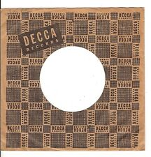 45RPM, RECORD SLEEVE ONLY ' DECCA LABEL ' VG+