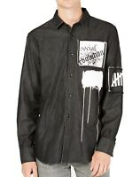 INC Mens  Gray US Size Large L Button Down Long-Sleeve Evolution Shirt  $65 091