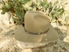 "Resistol 7 1/4 4X Canyon Brown ""Gus-style"" hat with horsehair band Excellent"