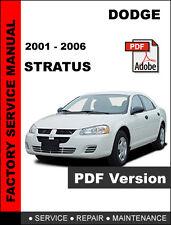 DODGE STRATUS 2001 2002 2003 2004 2005 2006 SERVICE REPAIR WORKSHOP MANUAL