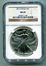 2013 AMERICAN SILVER EAGLE NGC MS69 BROWN LABEL PREMIUM QUALITY FAST SHIP PQ
