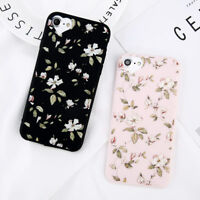 For iPhone 5 6 8 XS XR Cute Rubber Soft Silicone Pattern Flower Phone Case Cover