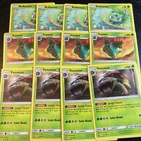 POKEMON - 4x VENUSAUR + IVYSAUR + BULBASAUR - 12 CARD SET - SHINING LEGENDS NM