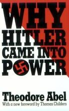 Why Hitler Came into Power Theodore Abel PB Harvard 1986 Nazi History