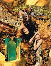 PUBLICITE ADVERTISING 025  1994   JEAN-LOUIS SCHERRER  parfum NUITS INDIENNES