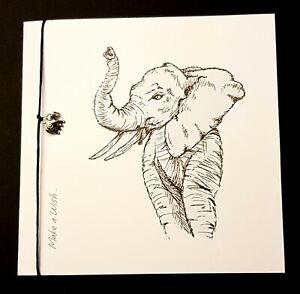 Elephant Card Birthday ? Elephant Bracelet ⭐Handmade⭐ Personalised Any Occasion