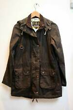 Barbour Nidd Wax Cotton Coat Long Jacket Size UK 8 Brown