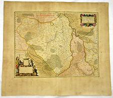 NEUMARK UCKERMARK BRANDENBURG  KUPFERSTICH KARTE MIT GOLD BLAEU 1662 #D936S