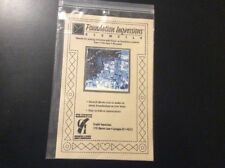 VINTAGE NEW IN PACKAGE FOUNDATION IMPRESSIONS STENCIL FOR LOG CABIN QUILT BLOCK