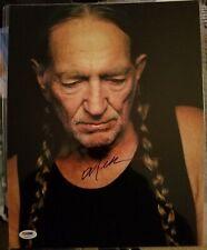 Willie Nelson 11x14 autograph photo PSA