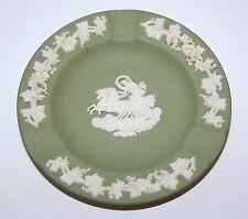 "Vintage Wedgwood Jasperware Pale Green Ashtray 4 1/2"" diameter Chariot"