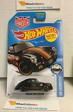 Porsche 356A Outlaw #120 * Black * Hot Wheels 2016 USA Card * J2