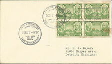 Maritime Mail Cover Posted On Board TEL Jamaica To New York 1 Jan 1938 U681