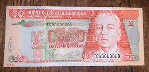Guatemala 50 Quetzales 2007 Pick 113bs aUNC SPECIMEN