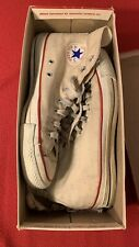 Vintage Converse All Star White Made In USA 9.5 70s 1970s