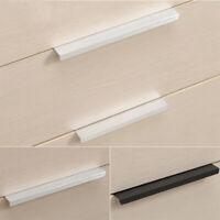 Door Cupboard Kitchen Cabinet Pulls Hidden Handle Drawer Knob Zinc Alloy