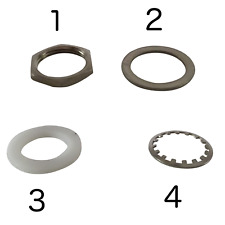 Guitar Pedal Footswitch Nuts & Washers