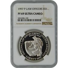 1997-P Law Officers NGC PF69 Commemorative Proof Silver Dollar Coin
