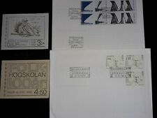 SWEDEN CLEARANCE 2 FDC 2 MINT BOOKLETS STAMPS MISSING