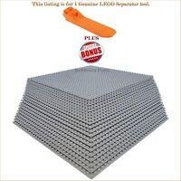 "1 Genuine LEGO Separator tool. PLUS BONUS 20 Grey 10""x10"" compatible base plates"