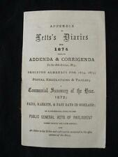 APPENDIX TO LETT'S DIARIES FOR 1874