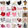 Newborn Baby Infant Toddler Boy Girl Snow Boots Crib Shoes Prewalker Size 0-18M