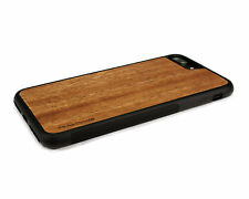 Handcrafted Wood iPhone 7 Plus Case with Soft Rubber Sides by Nuwoods, Mahogany